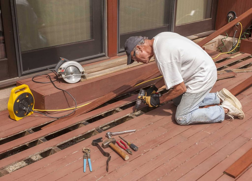 Deck Repair Services on a backyard composite decking structure