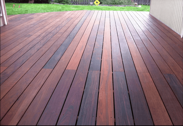 Ipe Wood Deck built in the backyard of a Columbus, Ohio home