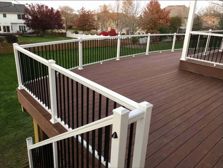 Trex and Composite Brown deck installed by Deck Builders Columbus Ohio