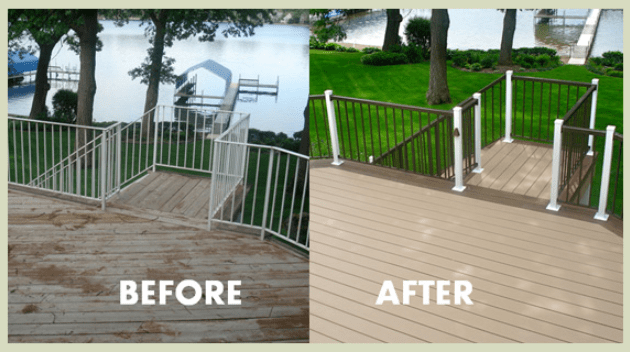 Deck replacement in Columbus Ohio with composite decking